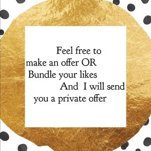 Feel Free to Make an Offer or Bundle Your Likes
